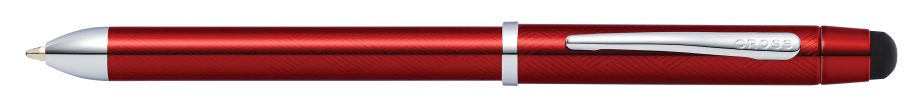 Tech3+ Translucent Red Lacquer Multifunction Pen