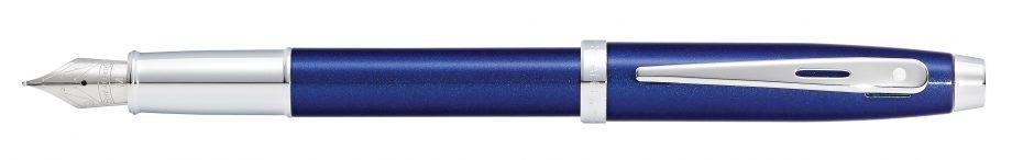 Sheaffer 100 Blue Lacquer Fountain Pen