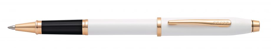 Century II Pearlescent White Lacquer Rollerball Pen