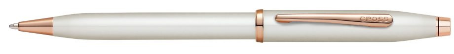 Century II Pearlescent White Lacquer Ballpoint Pen