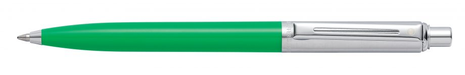 Sheaffer® Sentinel® Brushed Chrome Cap and Bright Green Barrel Ballpoint Pen