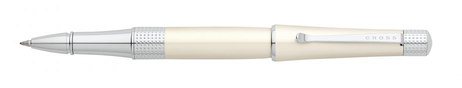 Beverly Pearlescent White Lacquer Rollerball Pen