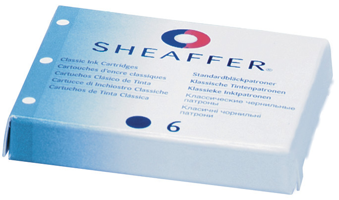 SHEAFFER® INK CARTRIDGES -SHELF PACKS Blue shelf pack