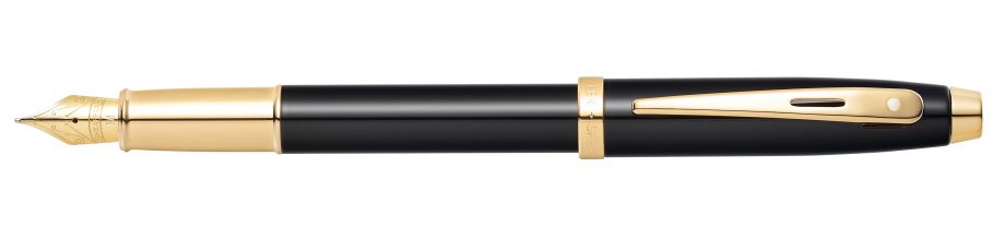 Sheaffer 100 Glossy Black with Gold-Tone Fountain Pen