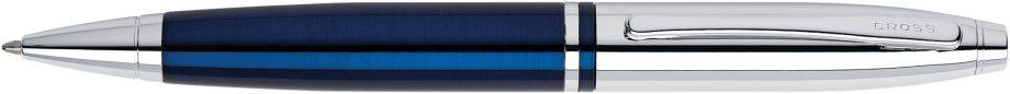 Calais Chrome & Blue Lacquer Ballpoint Pen