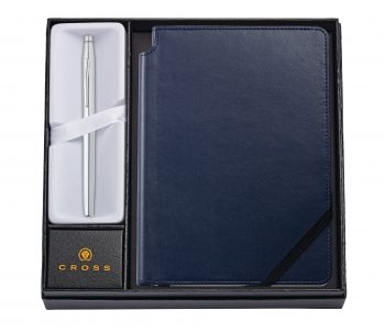 Classic Century Chrome Rollerball Pen with Medium Midnight Blue Journal