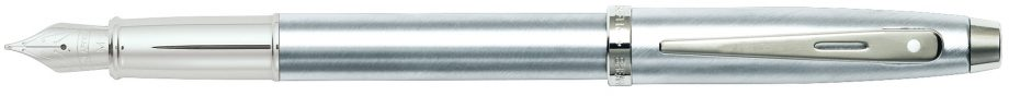 Sheaffer 100 Brushed Chrome Fountain Pen w/ Medium Nib