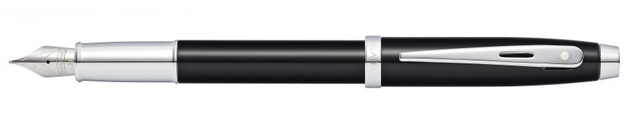 Sheaffer 100 Glossy Black Lacquer Fountain Pen