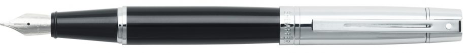 Sheaffer® 300 Glossy Black Barrel and Bright Chrome Cap Fountain Pen