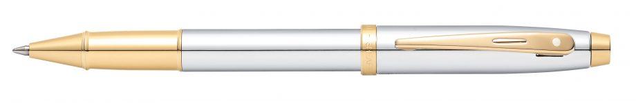 Sheaffer 100 Chrome w/Gold Tone Rollerball Pen