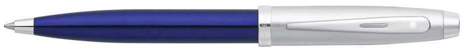 Sheaffer® 100 Translucent Blue Lacquer Barrel & Brushed Chrome Cap Ballpoint Pen