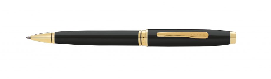 Coventry Black Lacquer with Gold-Tone Ballpoint Pen
