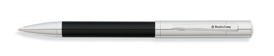 Greenwich Chrome & Tuxedo Black Lacquer Ballpoint Pen