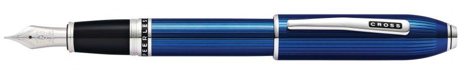 Peerless Translucent Quartz Blue Fountain Pen