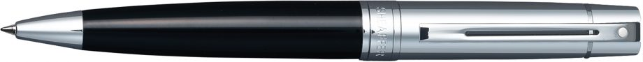 Sheaffer® 300 Glossy Black Barrel and Bright Chrome Cap Ballpoint Pen
