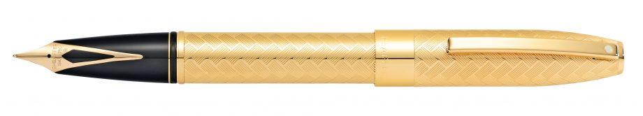 Sheaffer® Legacy 23KT Gold-plated Medium Nib Fountain Pen with Engraved Chevron Pattern